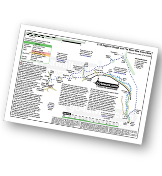 Walk route map with easy-to-follow route instructions for Derbyshire walk d145 Jaggers Clough and The River Noe from Edale pdf