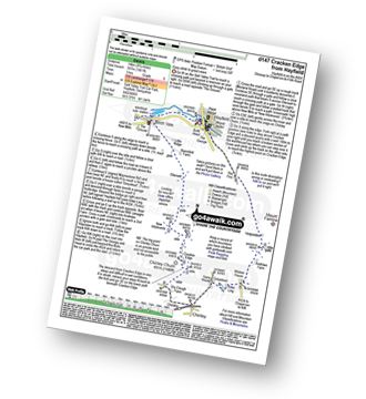 Walk route map with easy-to-follow route instructions for walk d147 Cracken Edge from Hayfield pdf