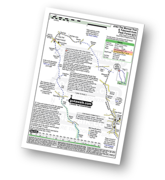 Walk route map with easy-to-follow route instructions for walk d163 Tideswell and The Monsal Trail from Peak Forest pdf