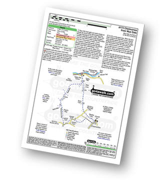Walk route map with easy-to-follow route instructions for Derbyshire walk d173 Chelmorton from Wye Dale pdf