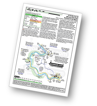 Walk route map with easy-to-follow route instructions for walk d178 Fin Cop and Monsal Dale from Ashford in the Water pdf