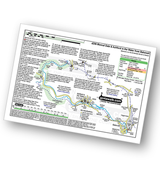 Walk route map with easy-to-follow route instructions for Derbyshire walk d206 Monsal Dale and Ashford in the Water from Bakewell pdf