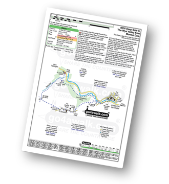 Walk route map with easy-to-follow route instructions for Derbyshire walk d208 Deep Dale and the Wye Valley from Monsal Dale pdf