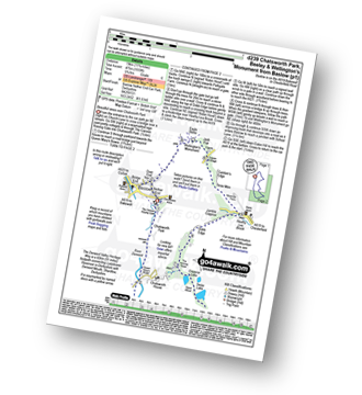 Walk route map with easy-to-follow route instructions for Derbyshire walk d239 Chatsworth Park, Beeley and Wellington's Monument from Baslow pdf
