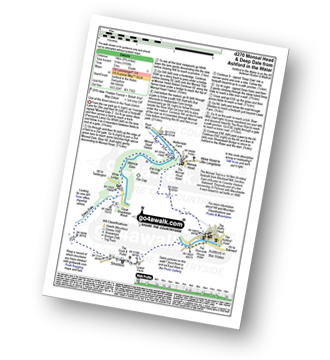 Walk route map with easy-to-follow route instructions for Derbyshire walk d270 Monsal Head, Monsal Dale and Deep Dale from Ashford in the Water pdf