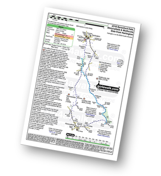 Walk route map with easy-to-follow route instructions for walk d318 Beresford Dale, Alstonefield and Wolfescote Dale from Hartington pdf