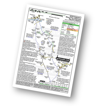 Walk route map with easy-to-follow route instructions for walk d319 Youlgreave, Elton and The Limestone Way  from Winster pdf