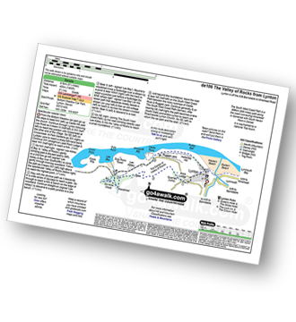 Walk route map with easy-to-follow route instructions for walk de106 The Valley of Rocks from Lynton pdf