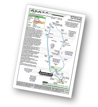 Walk route map with easy-to-follow route instructions for walk de183 Devil's Tor from Two Bridges pdf