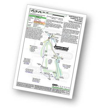 Walk route map with easy-to-follow route instructions for walk de202 Bellever Tor and Laughter Tor from Postbridge pdf