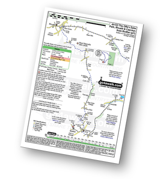 Walk route map with easy-to-follow route instructions for walk dn123 The Offa's Dyke Path, Rhuallt and Caerwys from Bodfari to Rhuallt pdf