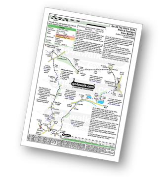 Walk route map with easy-to-follow route instructions for walk dn134 The Offa's Dyke Path and Rhuallt  from Bodfari to Rhuallt pdf