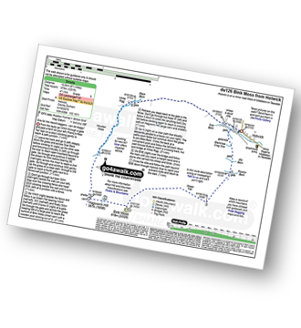 Walk route map with easy-to-follow route instructions for walk du126 Bink Moss from Holwick pdf