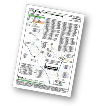 Walk route map with easy-to-follow route instructions for walk es144 Firle Beacon from Alfriston pdf