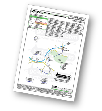 Walk route map with easy-to-follow route instructions for Greater Manchester walk gm101 The Bridgewater Canal from Dunham Town pdf