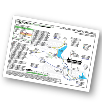 Walk route map with easy-to-follow route instructions for Greater Manchester walk gm134 Stable Stones Brow (Hoarstone Edge) and Alphin Pike from Dove Stone Reservoir, Greenfield pdf