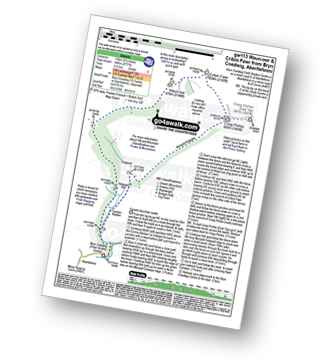 Walk route map with easy-to-follow route instructions for walk gw113 Waun-oer and Cribin Fawr from Bryn Coedwig, Aberllefenni pdf