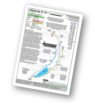 Walk route map with easy-to-follow route instructions for walk gw114 Llyn Gwynant from Pen y Pass pdf