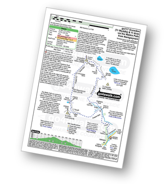 Walk route map with easy-to-follow route instructions for walk gw117 Snowdon and Yr Aran via The Watkin Path from Bathania, Nantgwynant pdf