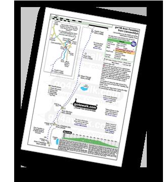 Walk route map with easy-to-follow route instructions for walk gw146 Aran Fawddwy from Llanuwchllyn pdf