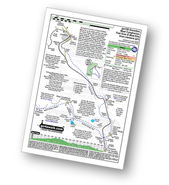Walk route map with easy-to-follow route instructions for walk gw158 Snowdon, Moel Cynghorion, Foel Gron and Moel Eilio from Llanberis pdf