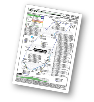 Walk route map with easy-to-follow route instructions for walk gw169 Tyrrau Mawr (Craig-las) and Craig-y-llyn from Llanfihangel -y-pennant pdf