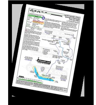 Walk route map with easy-to-follow route instructions for Gwynedd walk gw182 Carnedd y Filiast (Arenigs) and Foel-boeth from Llyn Celyn pdf