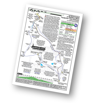 Walk route map with easy-to-follow route instructions for walk gw186 Snowdon and Moel Cynghorion from Llanberis pdf