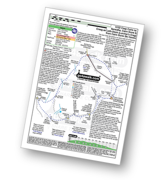 Walk route map with easy-to-follow route instructions for walk h152 Cnap Coire na Spreidhe, Cairn Gorm and Creag an Leth-choin (Lurcher's Crag) from Cairn Gorm Ski Centre pdf