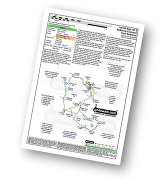 Walk route map with easy-to-follow route instructions for walk ha104 Noar Hil and Selborne Common from Selborne pdf
