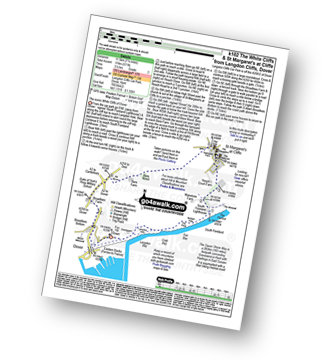 Walk route map with easy-to-follow route instructions for walk k102 The White Cliffs and St Margaret's at Cliffe from Langdon Cliffs, Dover pdf