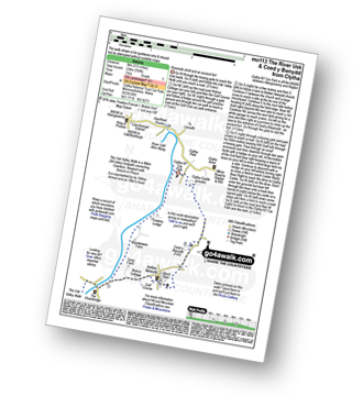Walk route map with easy-to-follow route instructions for walk mo113 The River Usk and Coed y Bwnydd from Clytha pdf