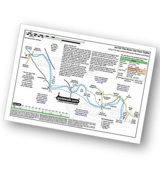 Walk route map with easy-to-follow route instructions for walk mo122 The River Usk from Clytha pdf