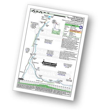 Walk route map with easy-to-follow route instructions for walk n167 The Cheviot from Hethpool pdf