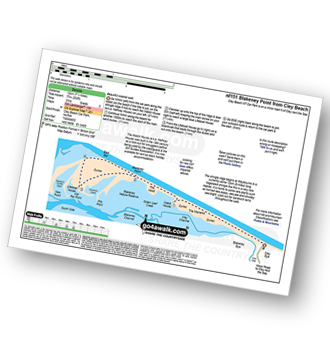 Walk route map with easy-to-follow route instructions for walk nf151 Blakeney Point from Cley Beach pdf