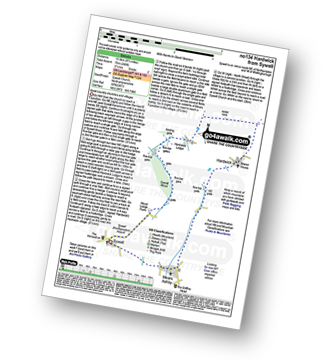 Walk route map with easy-to-follow route instructions for Northamptonshire walk no134 Hardwick from Sywell pdf