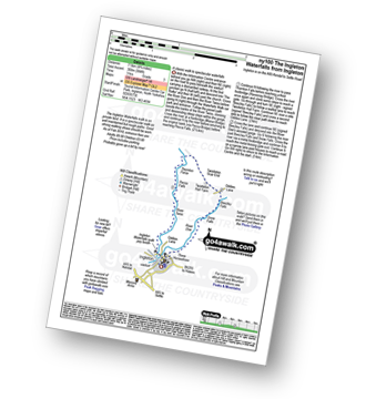 Walk route map with easy-to-follow route instructions for North Yorkshire walk ny100 The Ingleton Waterfalls from Ingleton pdf