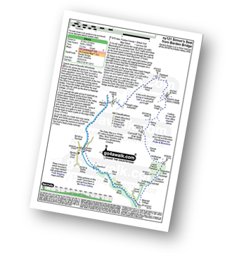 Walk route map with easy-to-follow route instructions for walk ny121 Simon's Seat from Barden Bridge, Wharfedale pdf