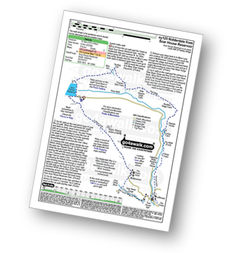 Walk route map with easy-to-follow route instructions for walk ny125 Nidderdale from Scar House Reservoir, Nidderdale pdf