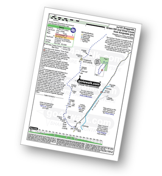 Walk route map with easy-to-follow route instructions for walk ny141 Gragareth and Green Hill from Kingsdale pdf