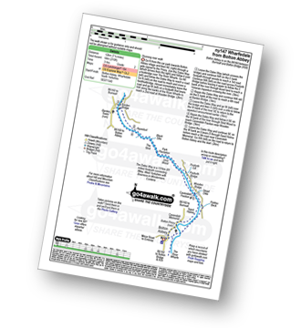 Walk route map with easy-to-follow route instructions for North Yorkshire walk ny147 Wharfedale from Bolton Abbey, Wharfedale pdf