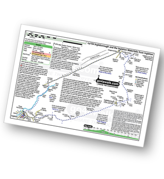 Walk route map with easy-to-follow route instructions for walk ny154 Ingleborough and the Ingleton Waterfalls from Ingleton pdf