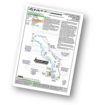 Walk route map with easy-to-follow route instructions for walk ny221 Fremington Edge and Arkengarthdale from Reeth pdf