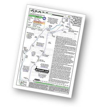 Walk route map with easy-to-follow route instructions for Powys walk po102 Fan Llia, Craig Cerrig-gleisiad and Fan Frynych from Blaen Llia pdf