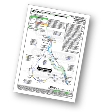 Walk route map with easy-to-follow route instructions for Staffordshire walk s128 Consall Forge and The Caldon Canal from Cheddleton pdf