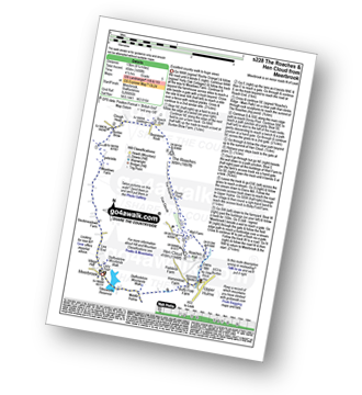 Walk route map with easy-to-follow route instructions for Staffordshire walk s228 The Roaches and Hen Cloud from Meerbrook pdf