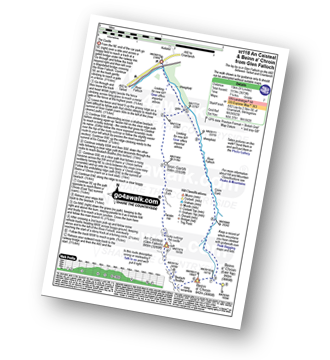 Walk route map with easy-to-follow route instructions for walk st118 An Caisteal and Beinn a' Chroin from Glen Falloch pdf