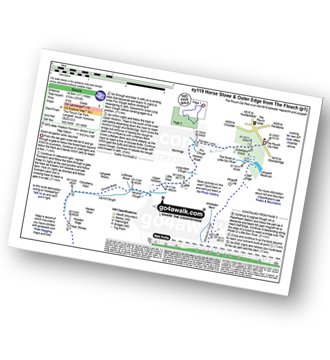 Walk route map with easy-to-follow route instructions for walk sy119 Horse Stone and Outer Edge from The Flouch pdf