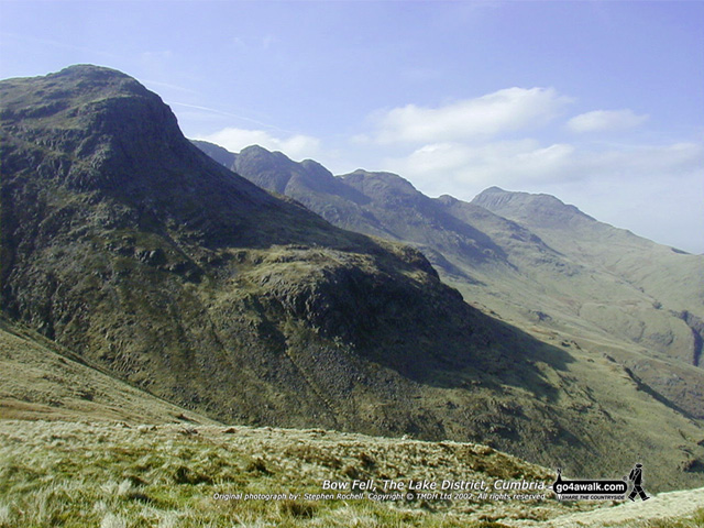 Bow Fell (Bowfell) from Red Tarn (Langdale), The Southern Fells, The Lake District National Park, Cumbria, England