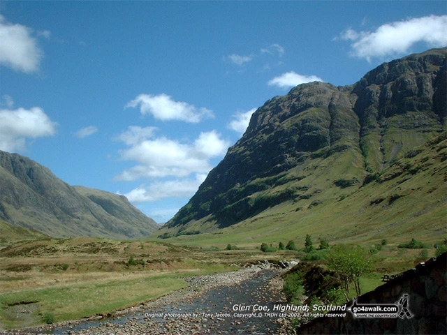 The Pass of Glen Coe, Loch Leven to Connel Bridge, Strath of Orchy and Glen Lochy, Highland, Scotland